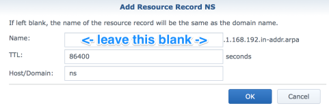 Default NS Record